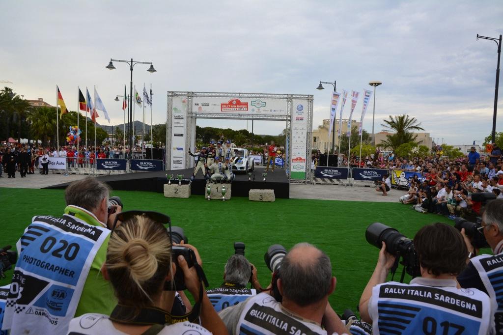 Podium Rally Italia Sardegna 2013
